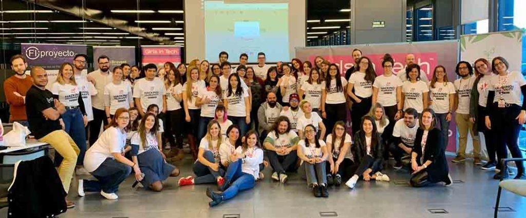 Hackaton alrededor de la ELA, primera edición del Hacking for Humanity (H4H) de Girls in Tech Spain.