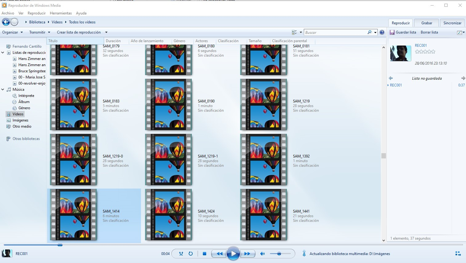 reproducir archivos AVI en Windows