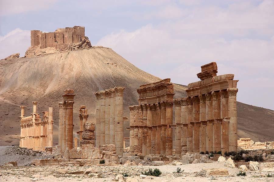 las ruinas de Palmira en Siria