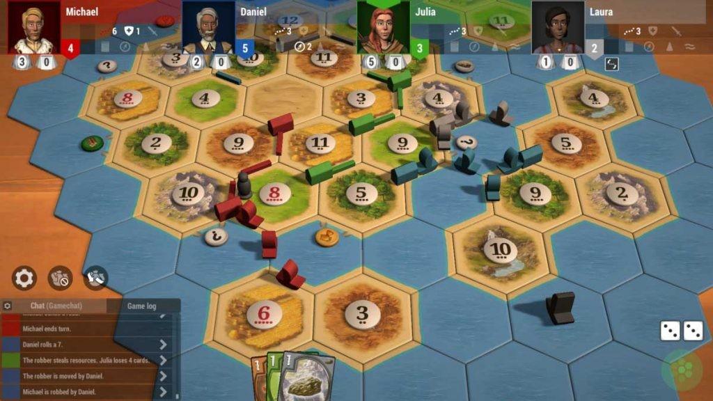 Catan Universe es una buena opción si buscas juegos de mesa online.