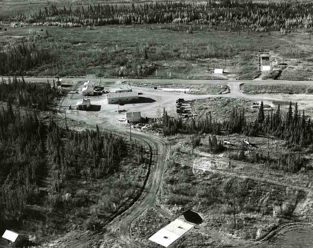 construcción del Fox Permafrost Tunnel