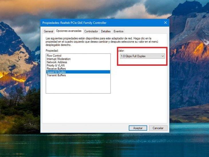 configurar ethernet windows 10