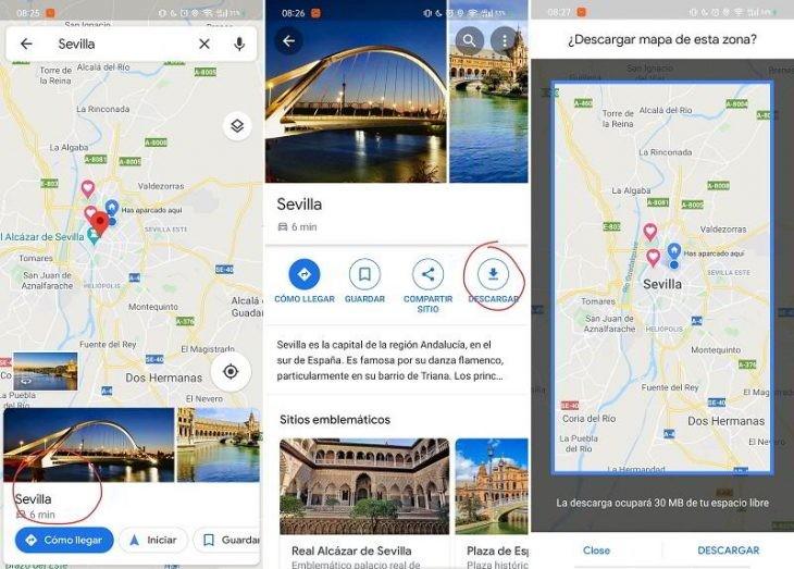 organizar las vacaciones con Google Maps