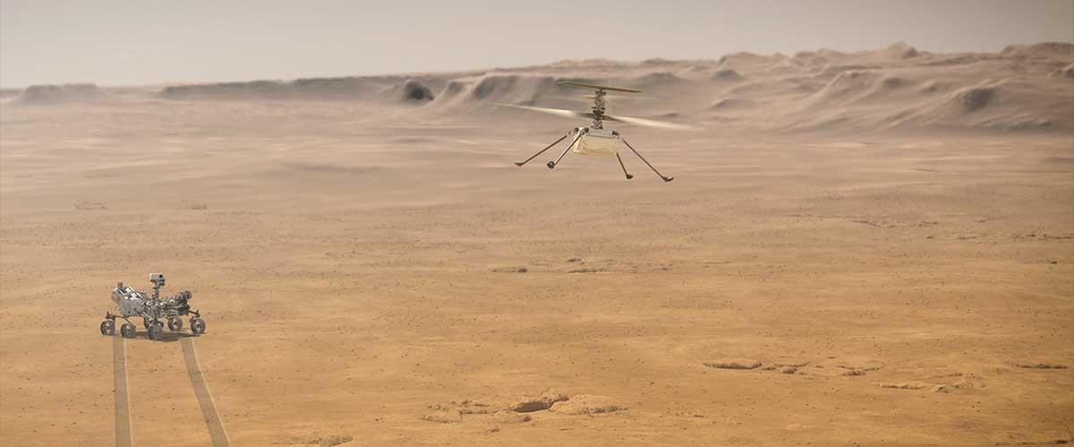 misiones a Marte, el dron de Perseverance