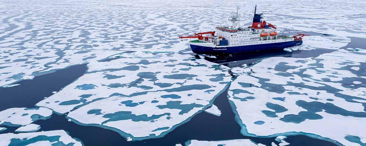 el Polarstern cerca del Polo Norte