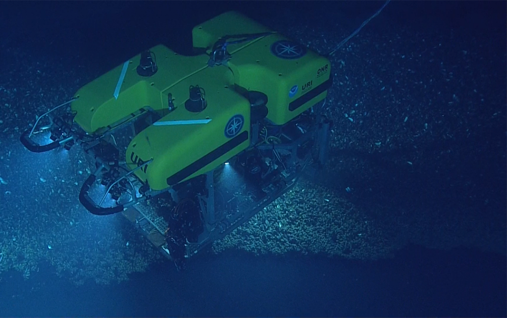 Uno de los vehículos submarinos de operación remota que participaron en la expedición.