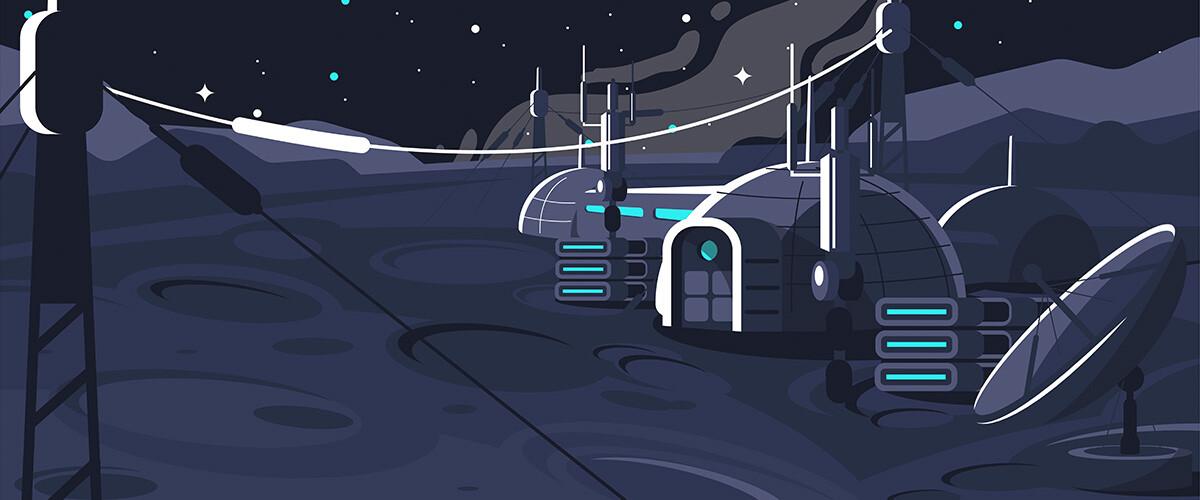 base lunar moon village