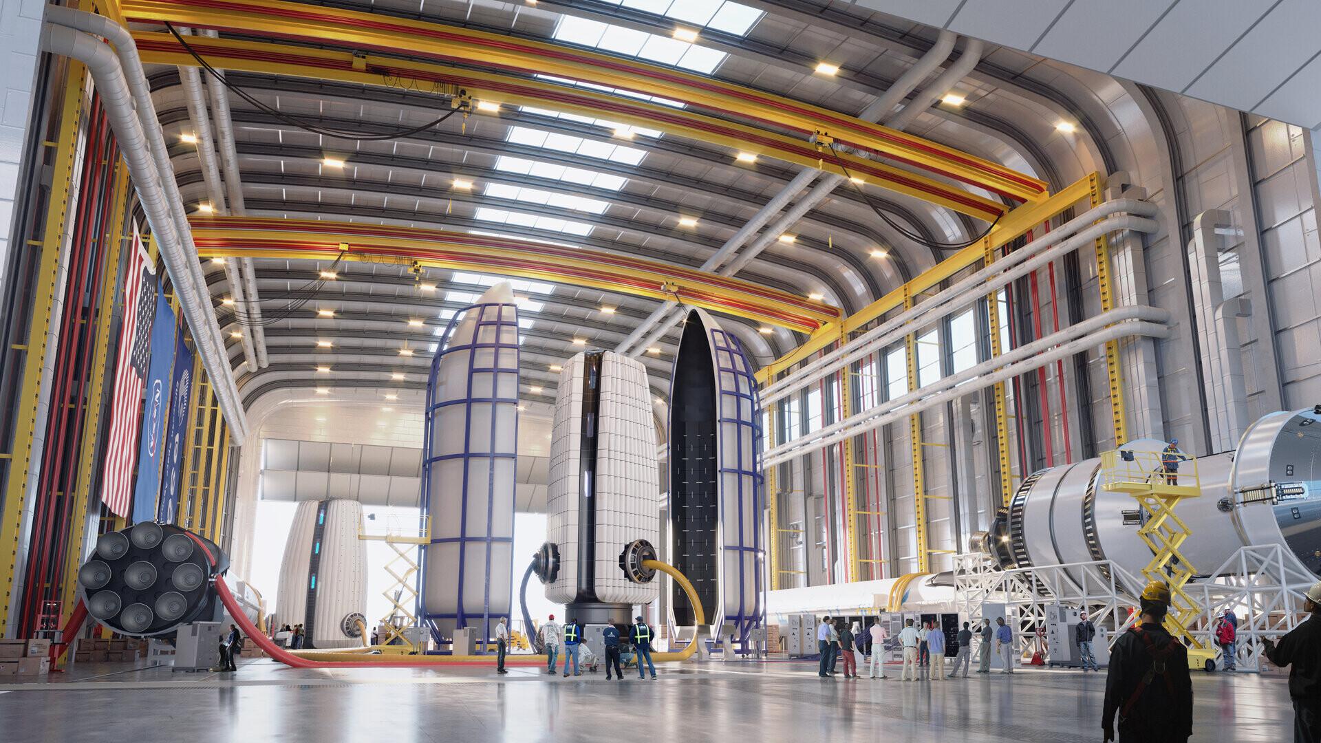 preparando el lanzamiento para moon village base lunar