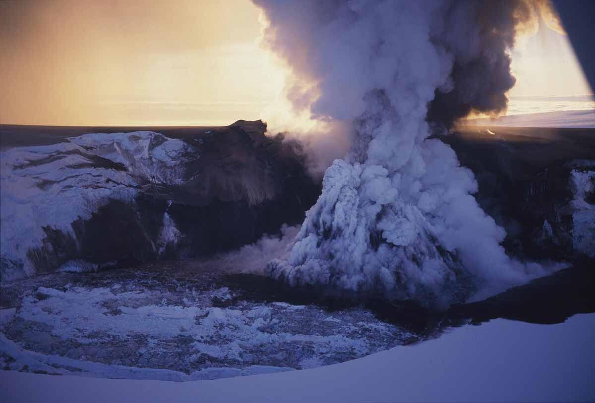 erupción del Grímsvötn
