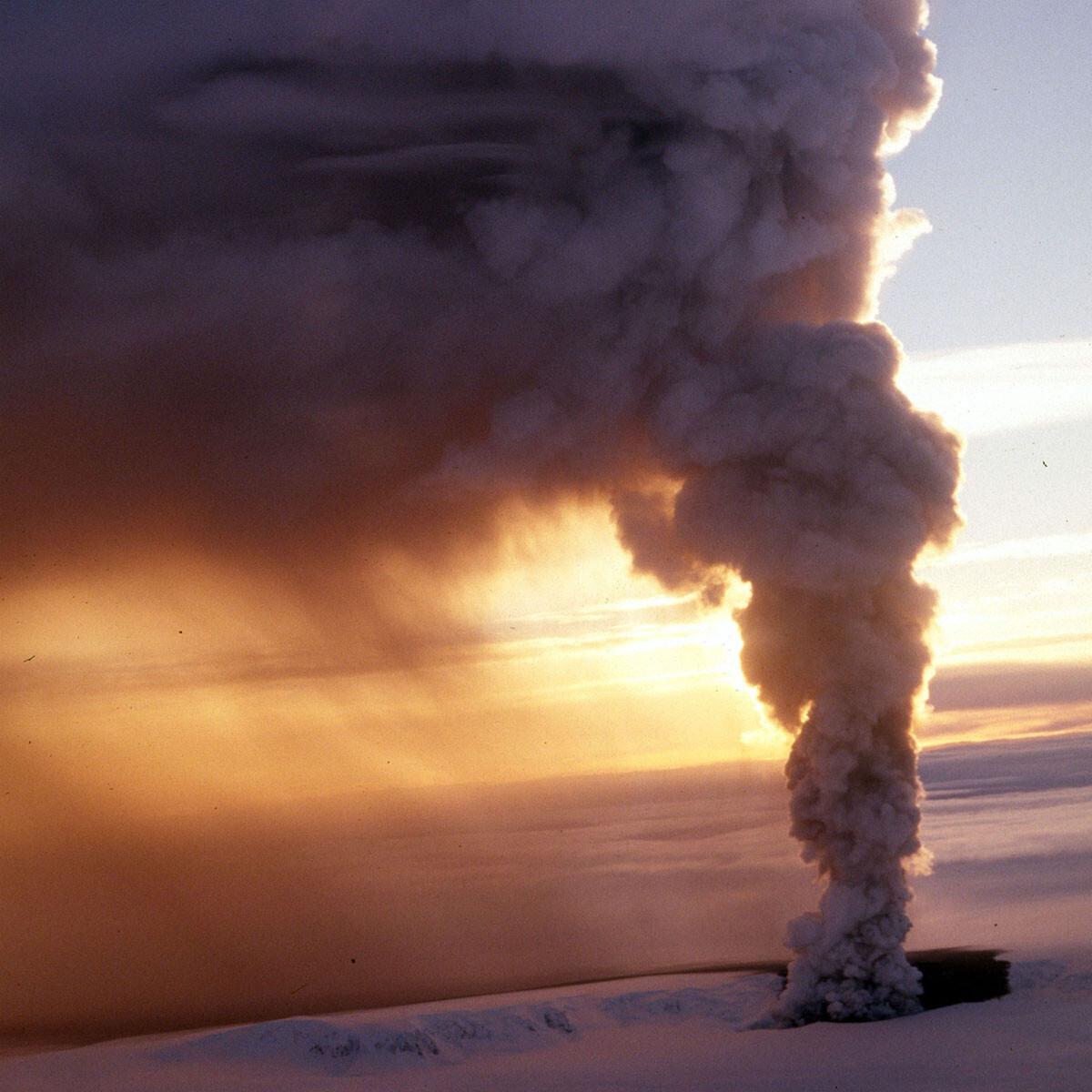 volcán helado en Islandia