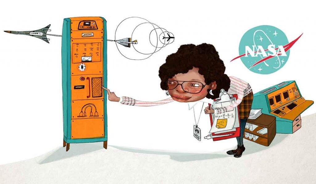 Ilustración de 'Mujeres negras en la ciencia'..
