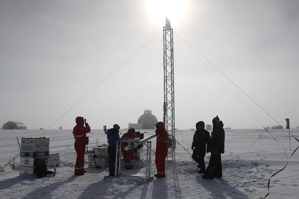 extracción de testigos de hielo en Groenlandia