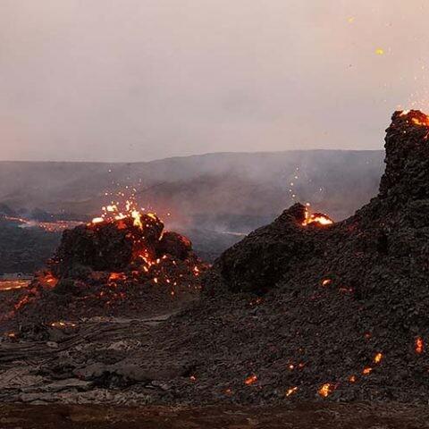 predecir una erupción en Islandia