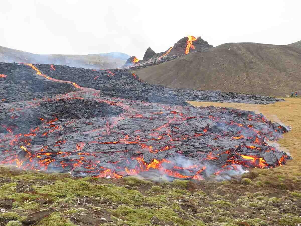 lugar de erupción en Reykjanes
