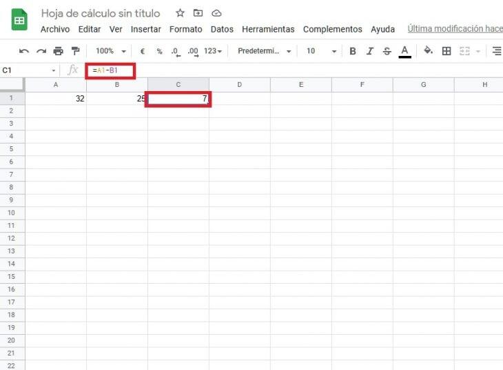 hacer sumas y restas en Excel