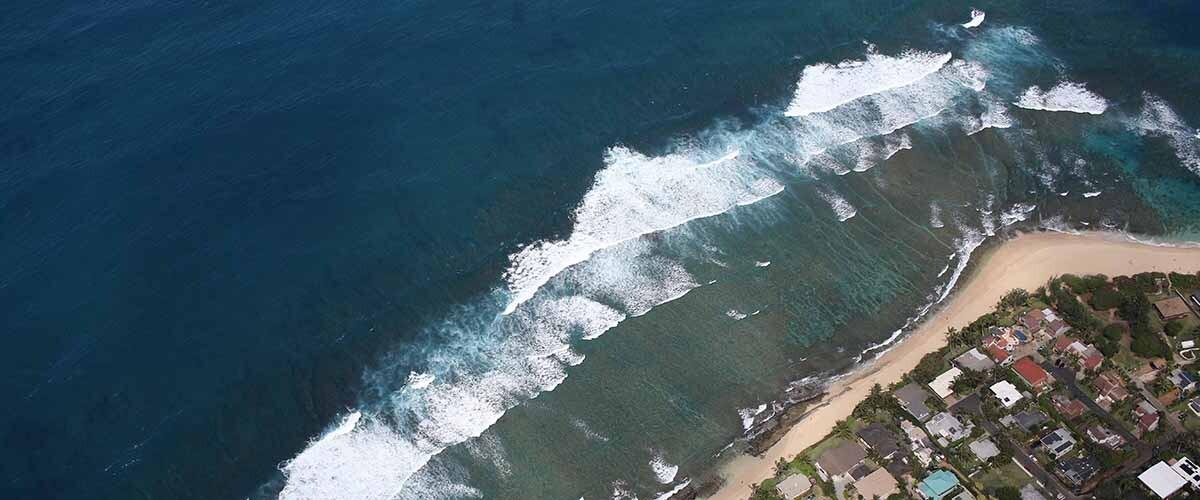 el nivel del mar en las islas