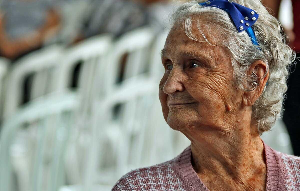 una anciana sana