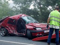 Accidente roca carretera