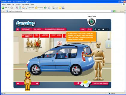 Nueva web de seguridad vial para niños