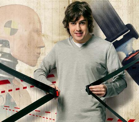 Alonso y el cinturón de seguridad