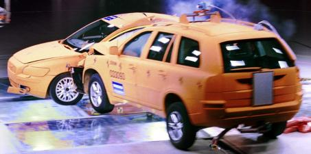 Crash test de un SUV