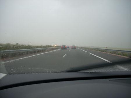 Distancia seguridad 120 Km/h en mojado