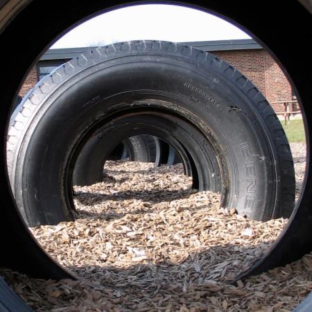 'Through tire'