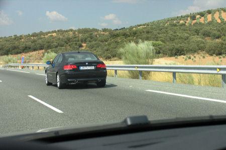 Adelantando a un BMW