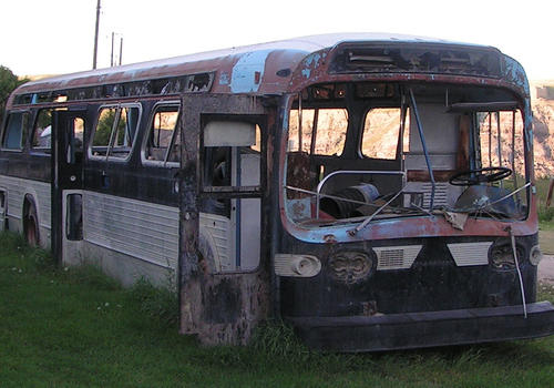 Autobús abandonado
