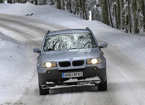 BMW X3 en nieve