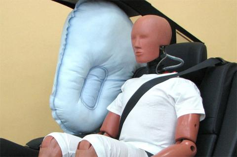 Airbag central trasero