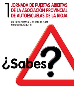 Cartel autoescuelas La Rioja
