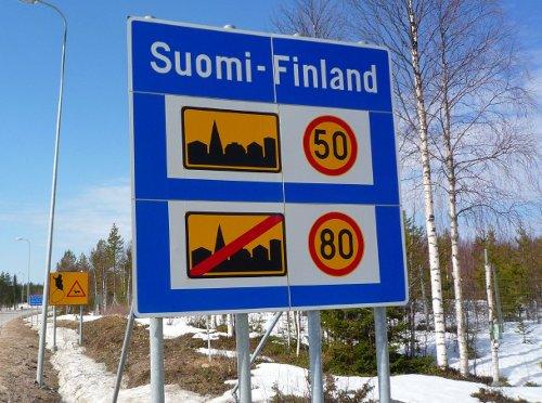 Límites de velocidad en la frontera entre Finlandia y Rusia