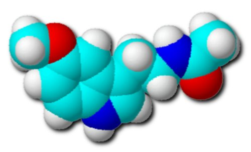 Molécula de melatonina, una hormona clave en la seguridad vial