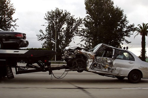 Un coche que ha sufrido cambios poco deseables en su carrocería