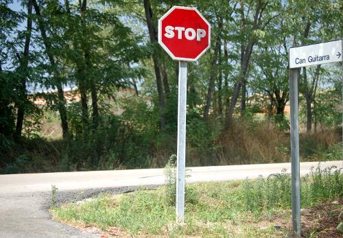 Intersección en una carretera