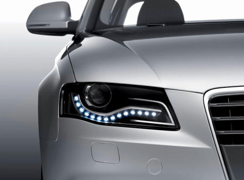 Luces de Conducción Diurna en un Audi A4
