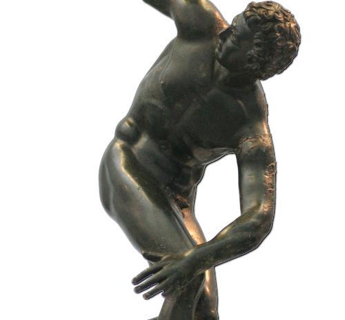 El discóbolo, ejemplo de torsión forzada