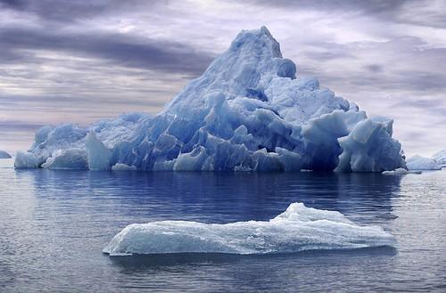 Los icebergs flotan debido a que el agua sólida ocupa más espacio que la líquida