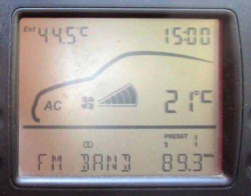 Temperaturas exterior e interior en un climatizador