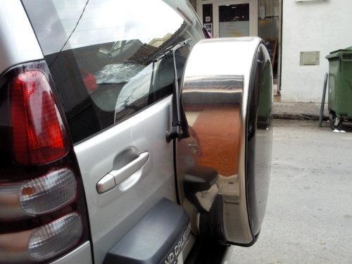 Carcasa metálica para la rueda de repuesto
