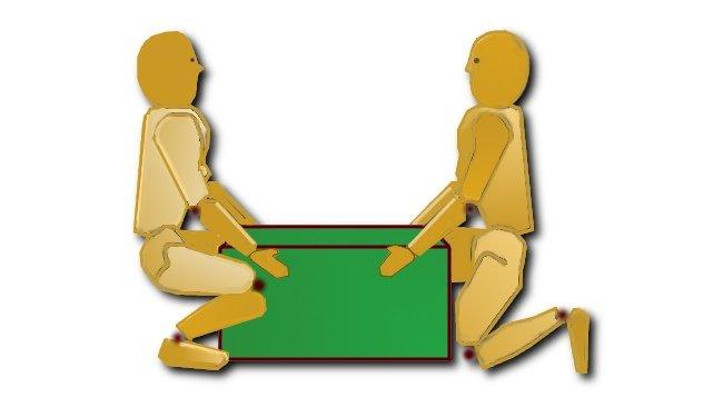 Higiene postural al cargar objetos pesados