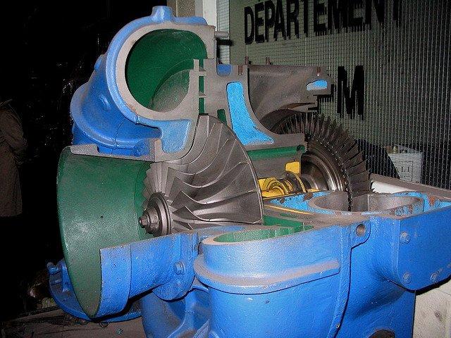 Turbocompresor utilizado por trenes diésel