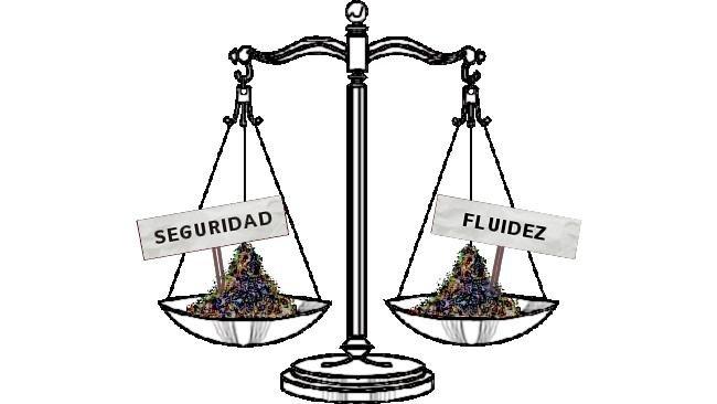 Equilibrio entre seguridad y fluidez