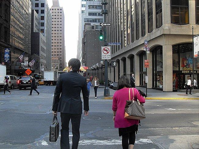 Peatones en Nueva York