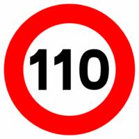 Límite a 110 km/h