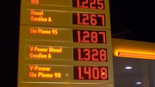 Precios de carburantes