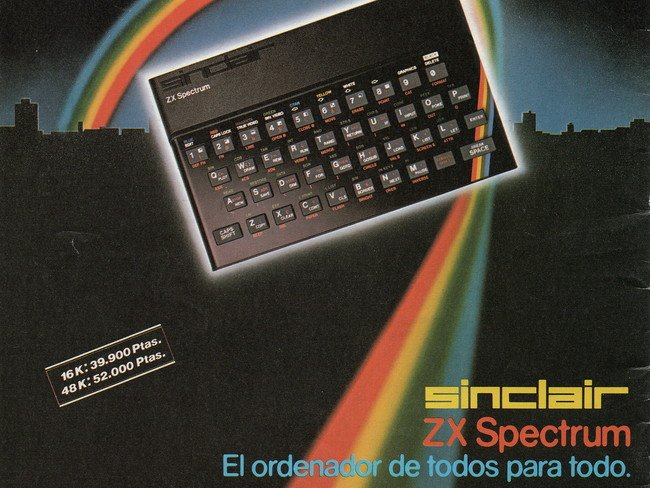Publicidad Sinclair ZX Spectrum