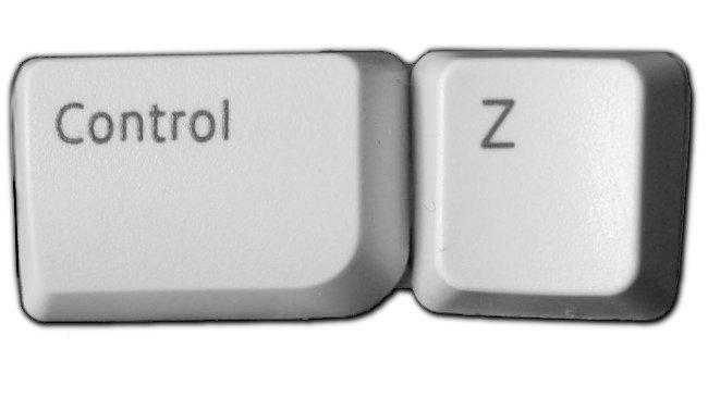 Control Z, comando 'deshacer'