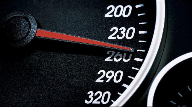 Velocímetro a 260 km/h